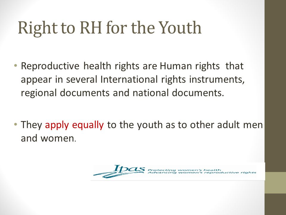 Right to RH for the Youth