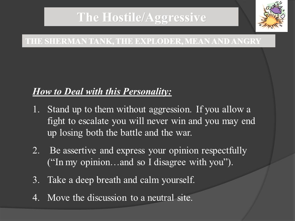 The Hostile/Aggressive