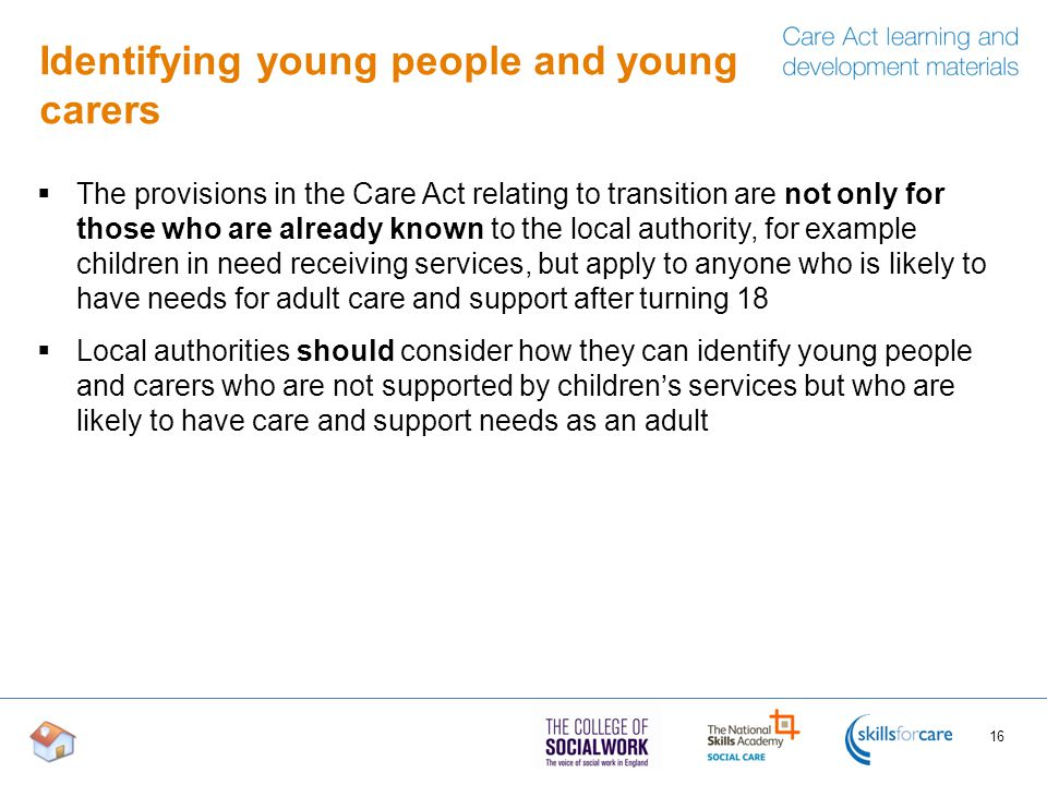 Identifying young people and young carers