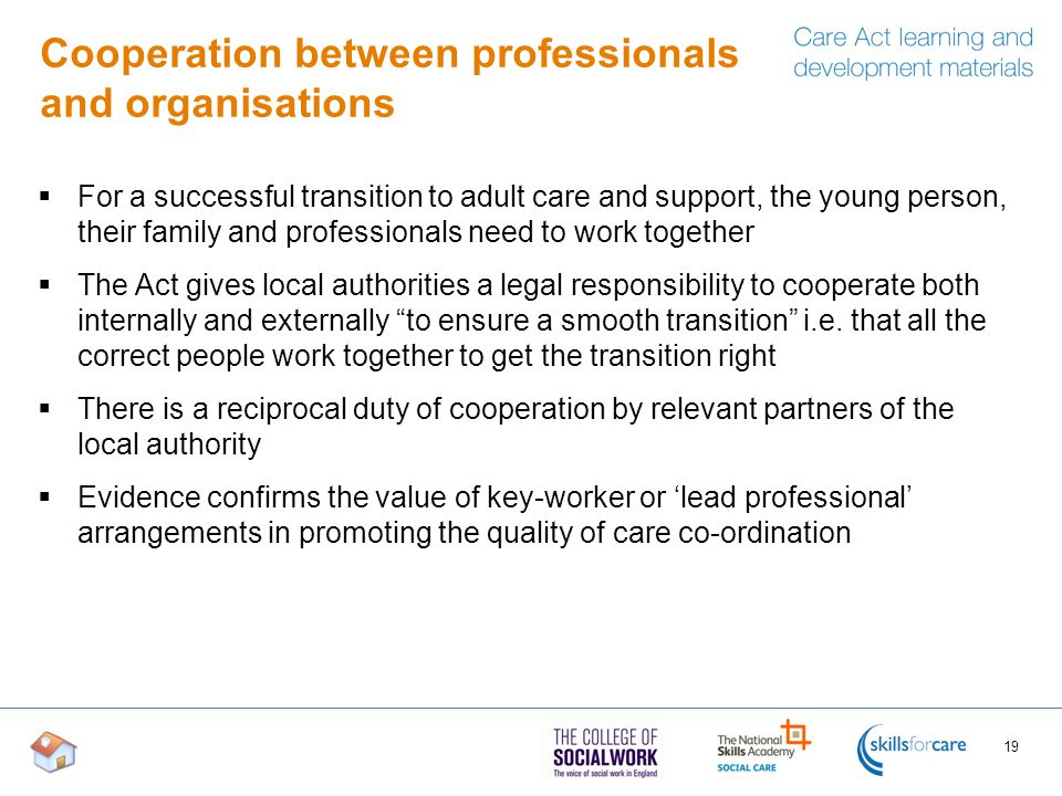 Cooperation between professionals and organisations