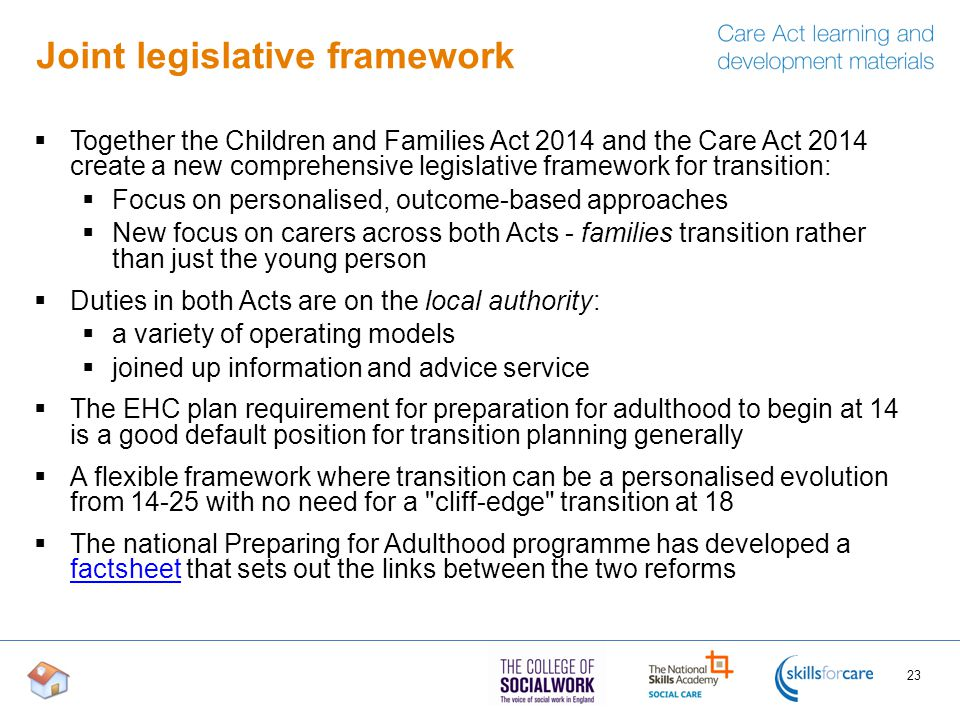 Joint legislative framework