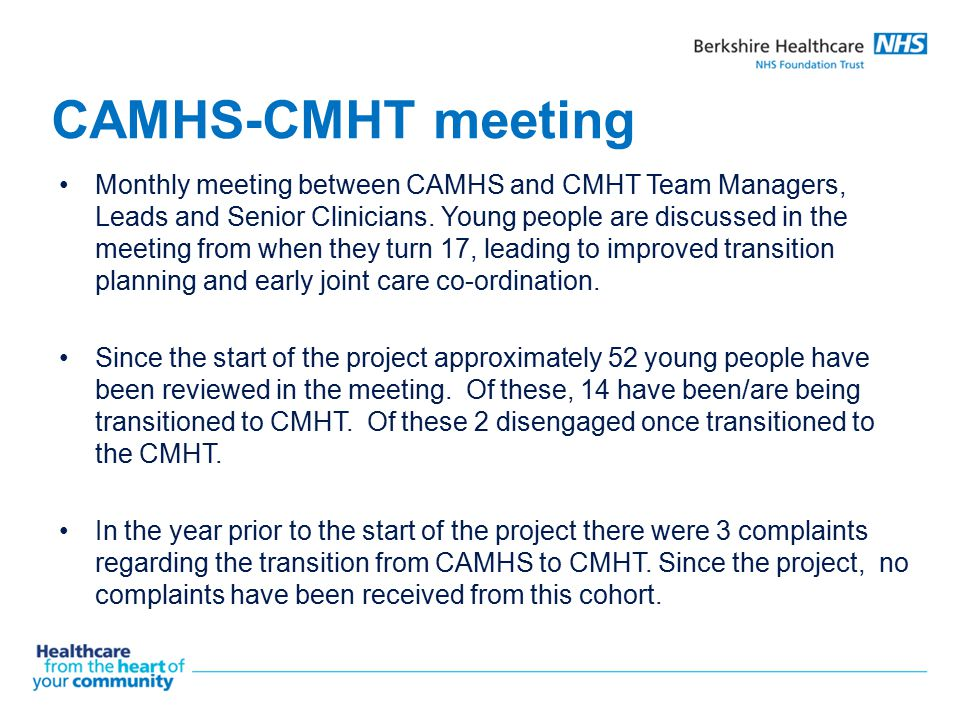 CAMHS-CMHT meeting