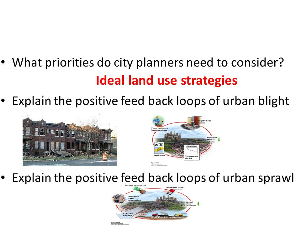 Ideal land use strategies