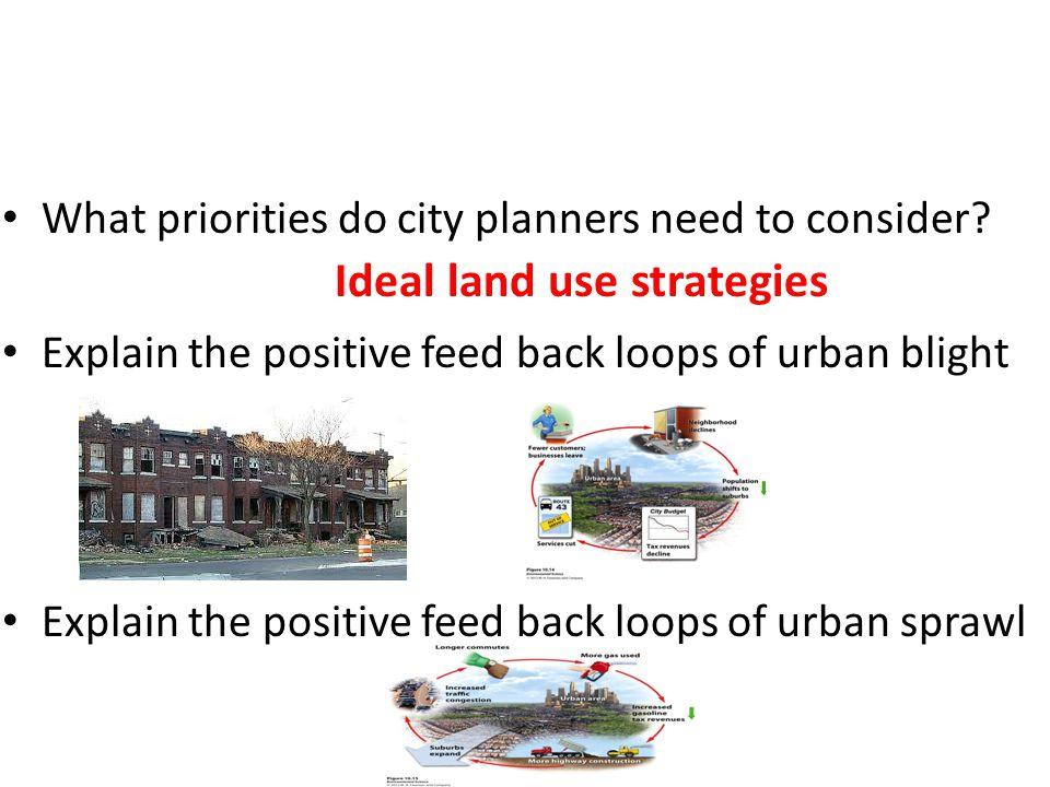 Ideal land use strategies