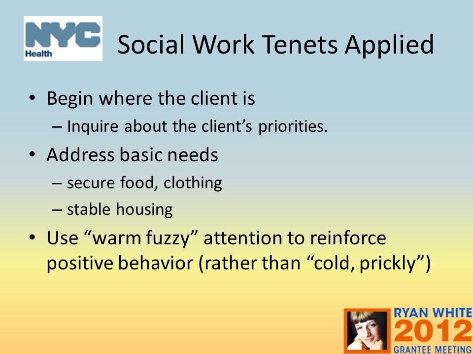 Social Work Tenets Applied