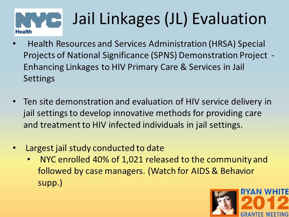 Jail Linkages (JL) Evaluation