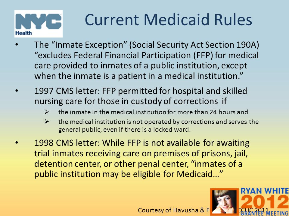 Current Medicaid Rules