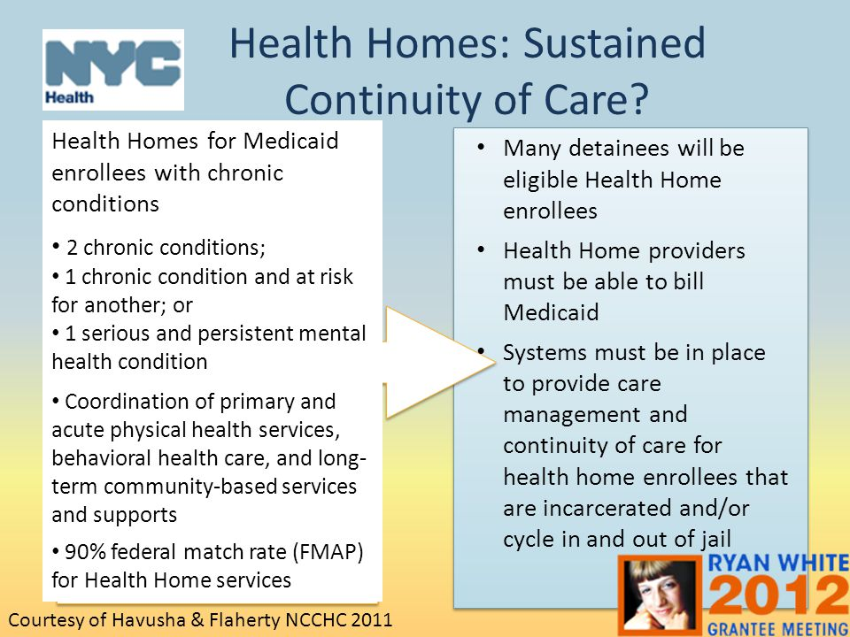 Health Homes: Sustained Continuity of Care