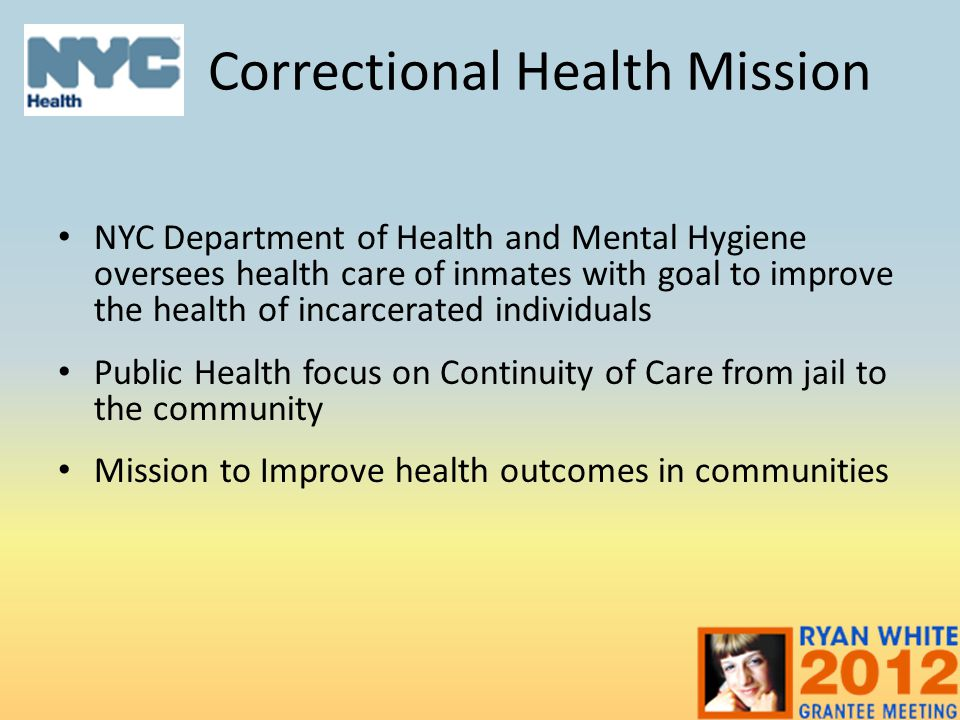 Correctional Health Mission