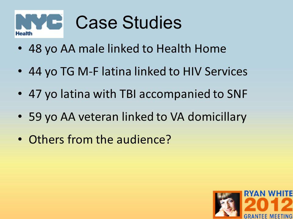 Case Studies 48 yo AA male linked to Health Home