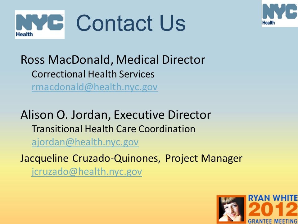 Contact Us Ross MacDonald, Medical Director