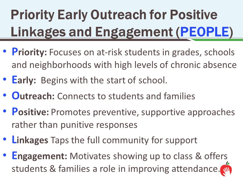Priority Early Outreach for Positive Linkages and Engagement (PEOPLE)