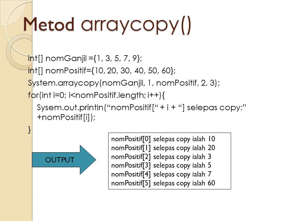 Metod arraycopy()