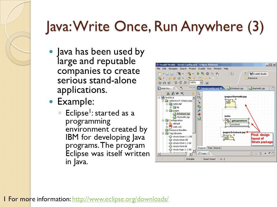 Java: Write Once, Run Anywhere (3)