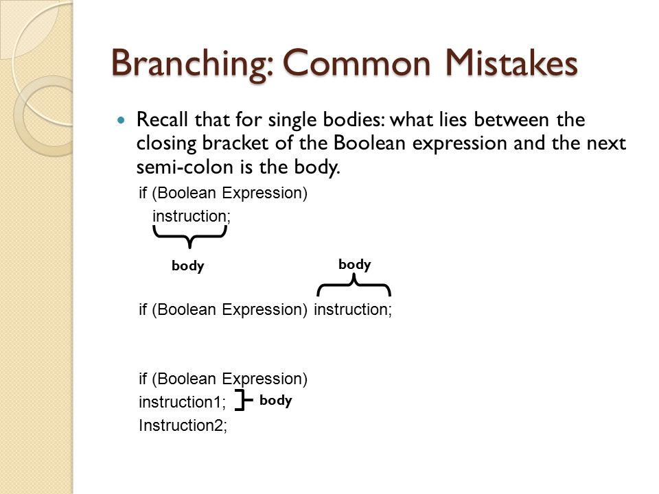 Branching: Common Mistakes