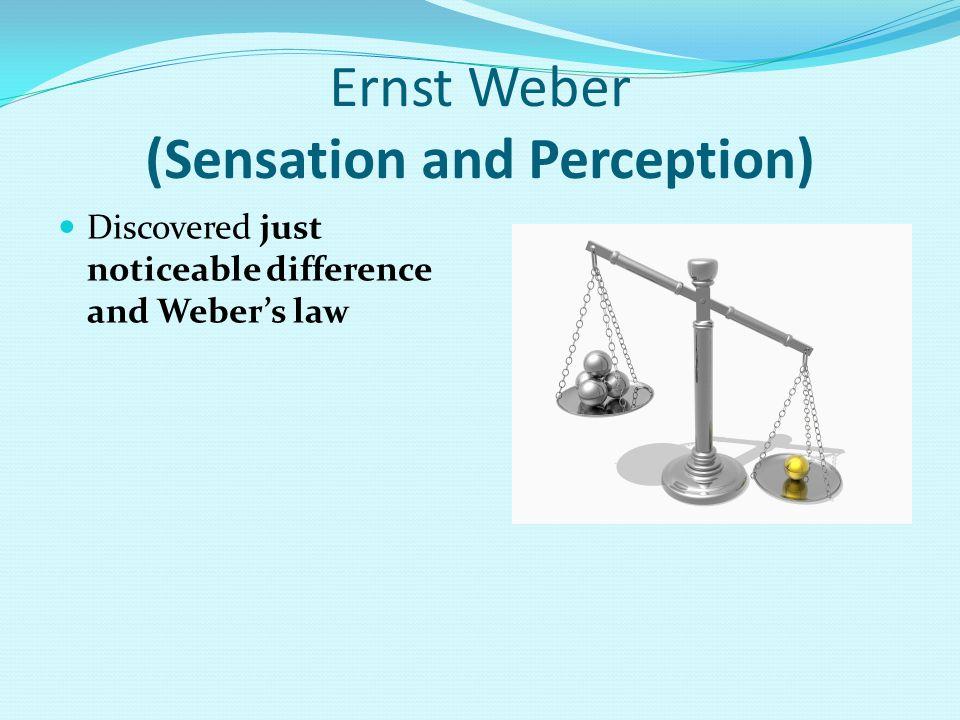 Ernst Weber (Sensation and Perception)