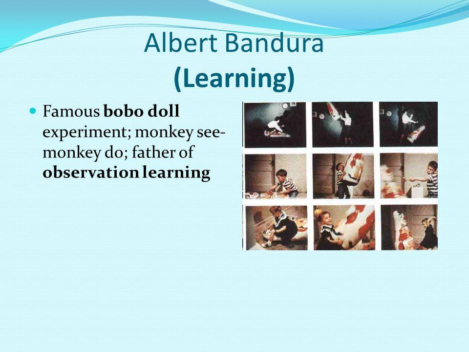 Albert Bandura (Learning)