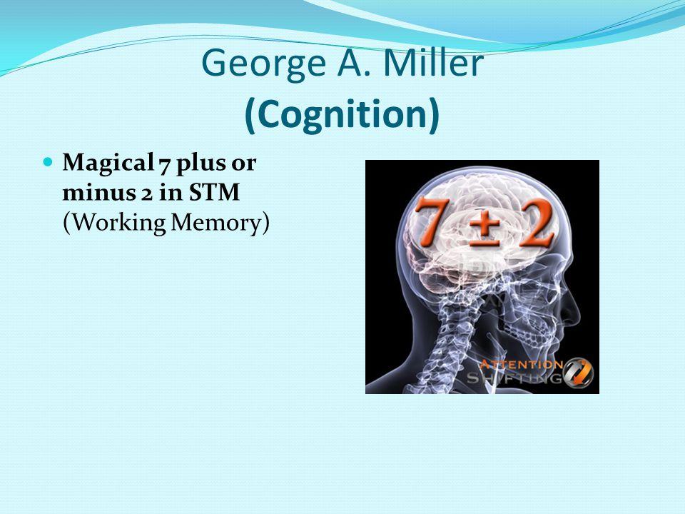 George A. Miller (Cognition)