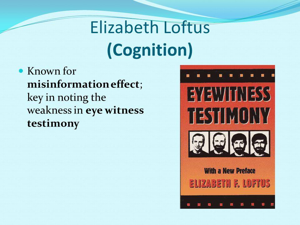 Elizabeth Loftus (Cognition)