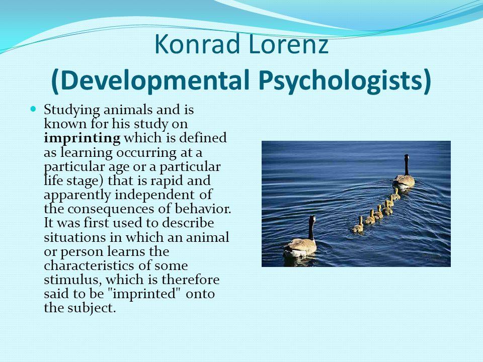 Konrad Lorenz (Developmental Psychologists)