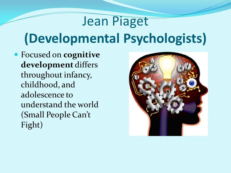 Jean Piaget (Developmental Psychologists)