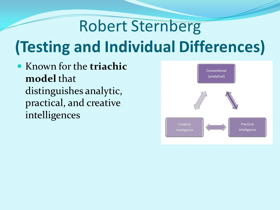 Robert Sternberg (Testing and Individual Differences)