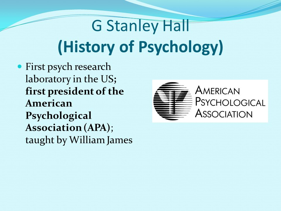 G Stanley Hall (History of Psychology)