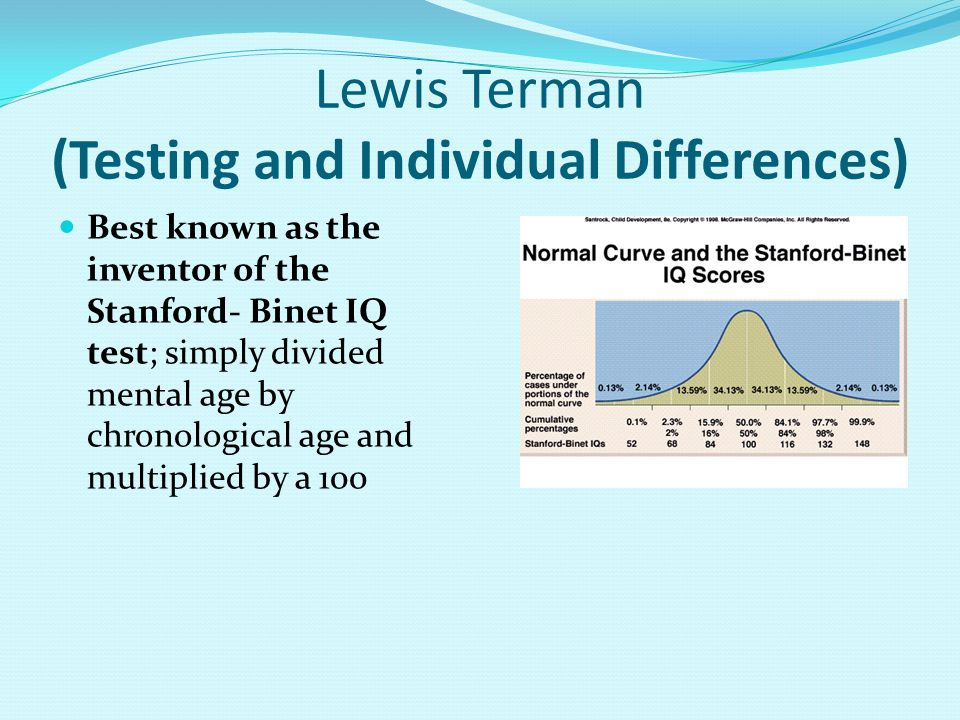 Lewis Terman (Testing and Individual Differences)