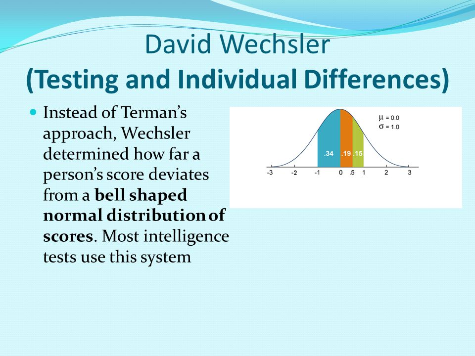 David Wechsler (Testing and Individual Differences)