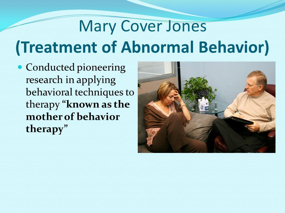 Mary Cover Jones (Treatment of Abnormal Behavior)