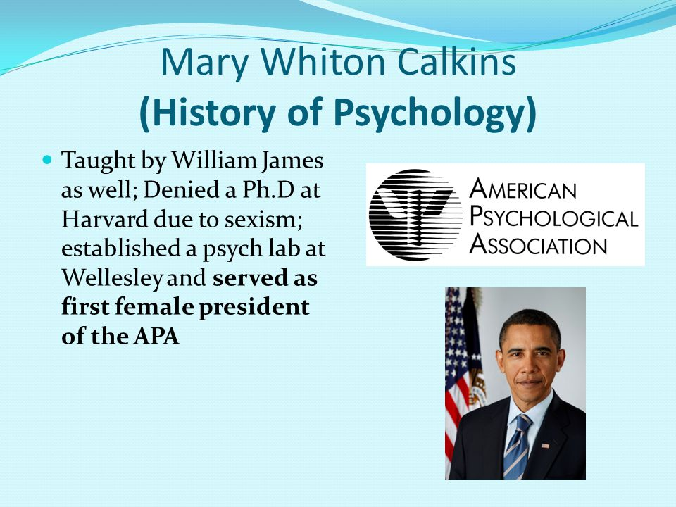 Mary Whiton Calkins (History of Psychology)