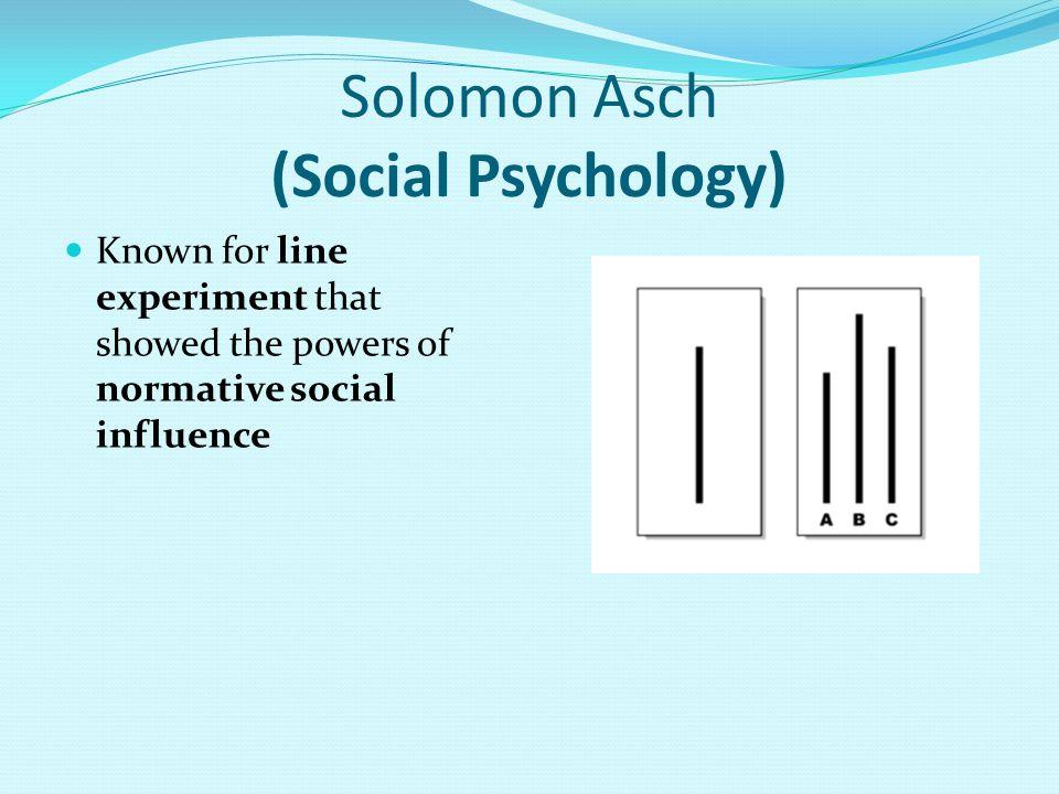 Solomon Asch (Social Psychology)