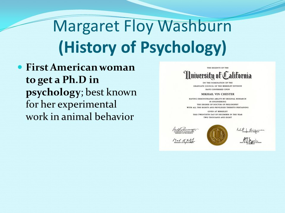 Margaret Floy Washburn (History of Psychology)