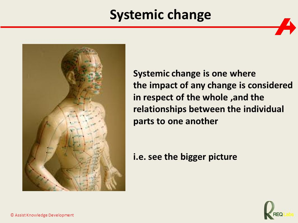 Systemic change Systemic change is one where