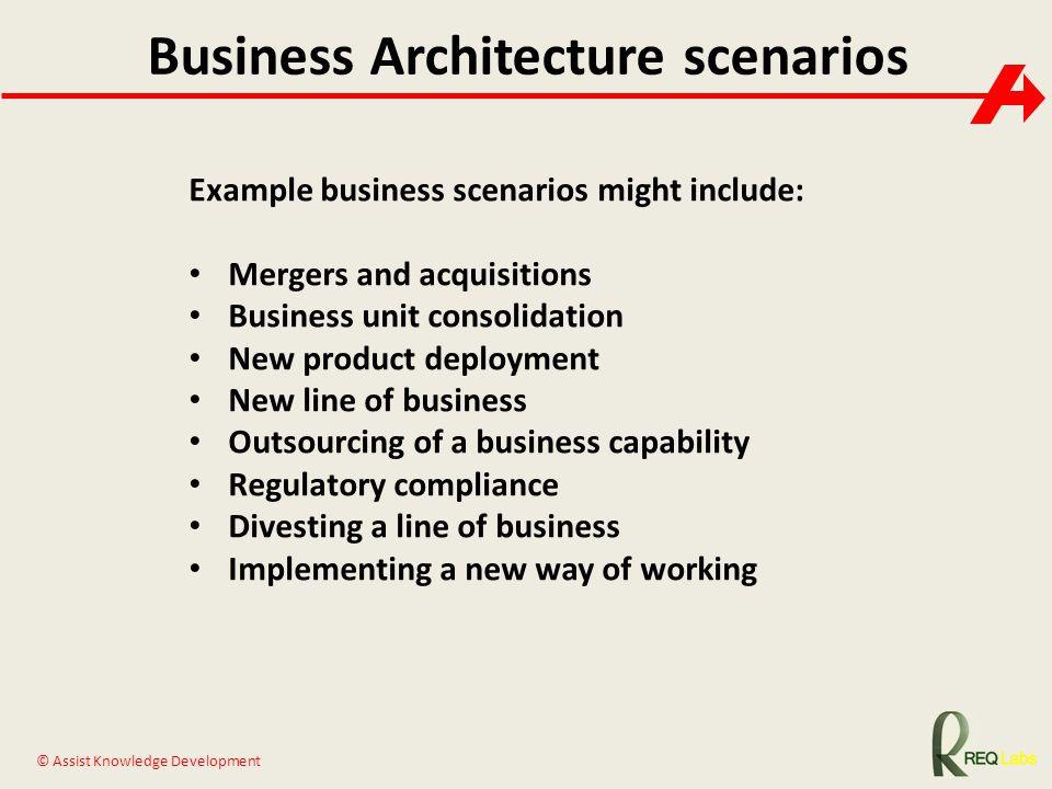 Business Architecture scenarios