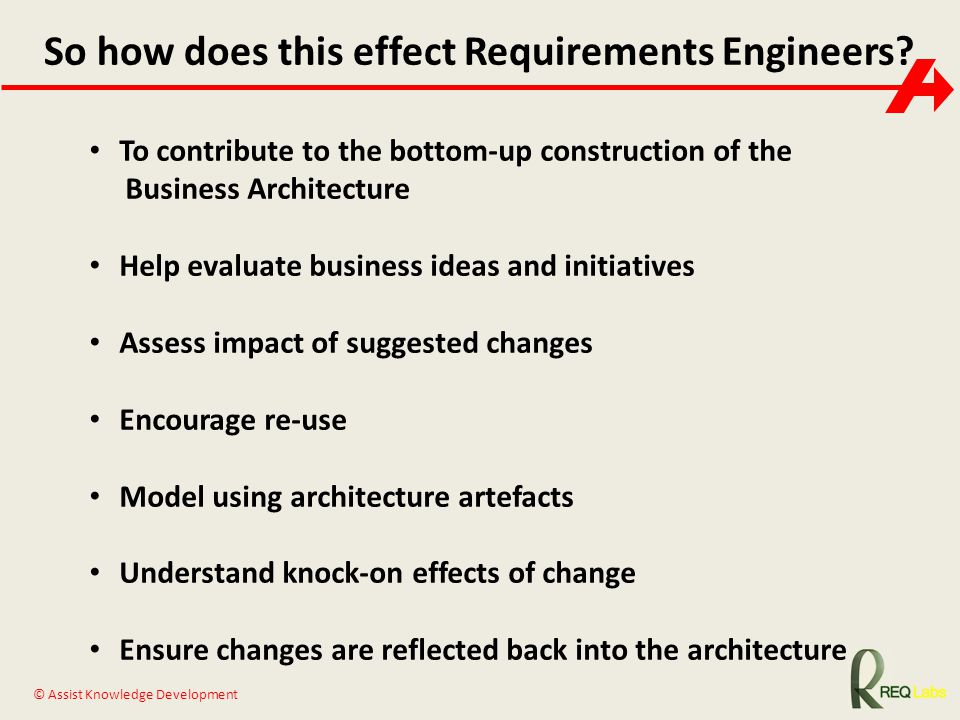 So how does this effect Requirements Engineers