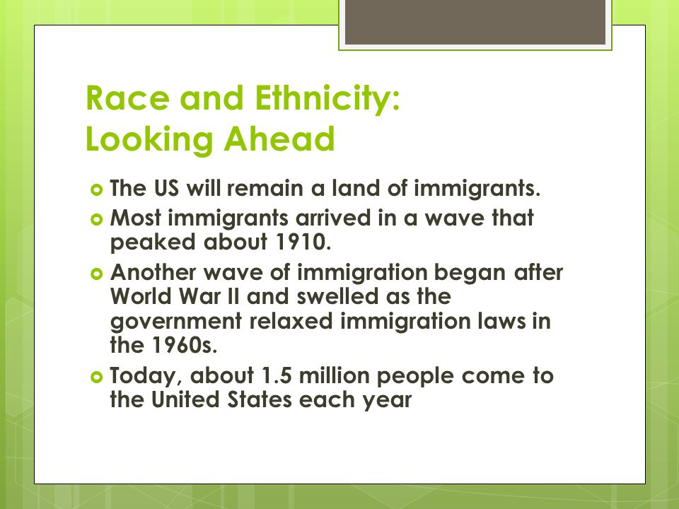 Race and Ethnicity: Looking Ahead