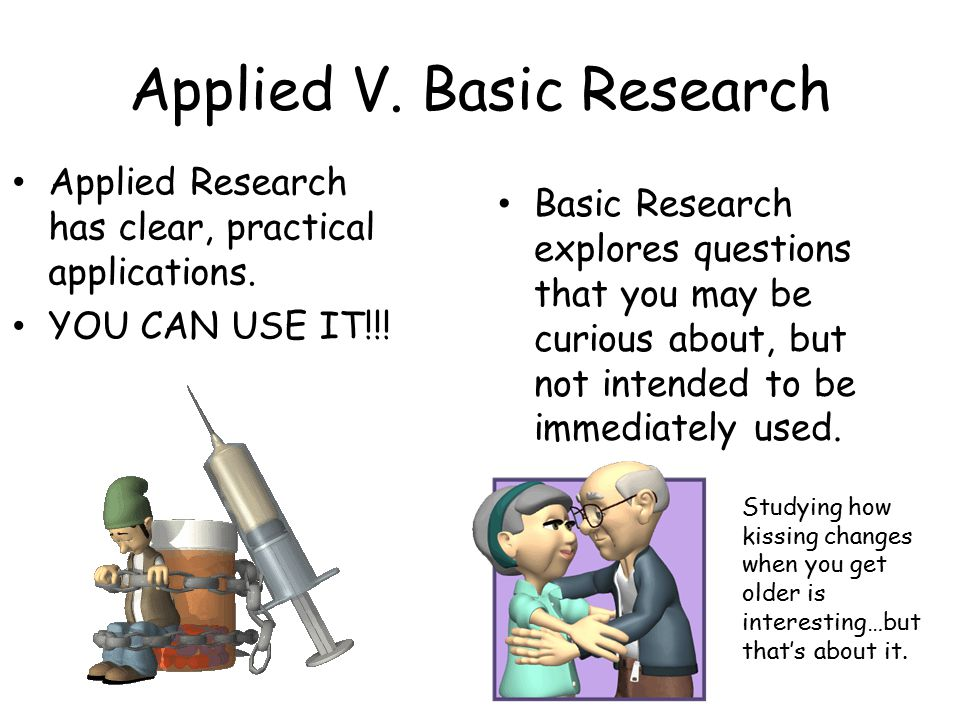 Applied V. Basic Research