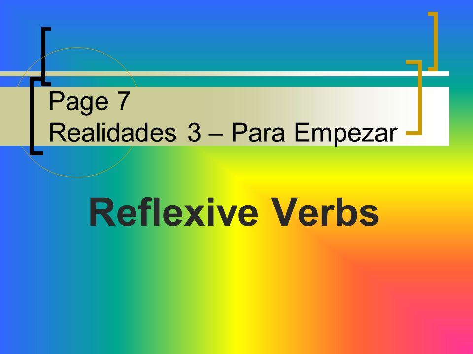 Page 7 Realidades 3 – Para Empezar