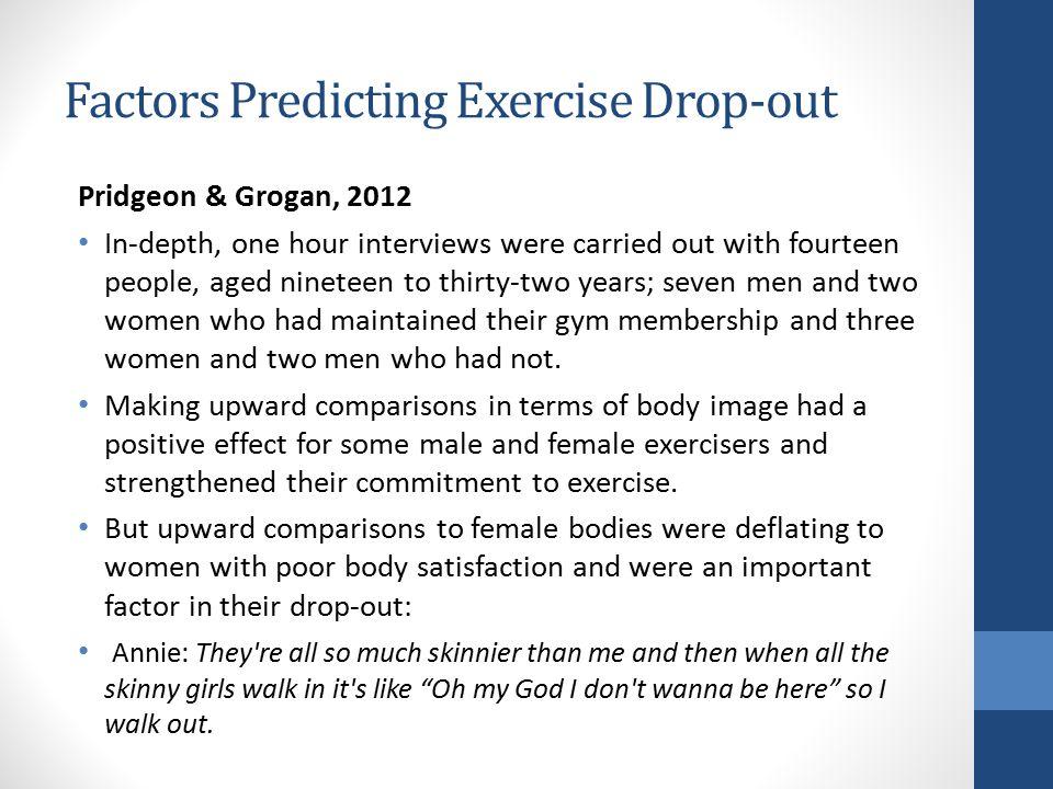Factors Predicting Exercise Drop-out