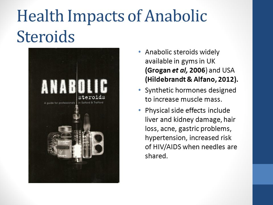 Health Impacts of Anabolic Steroids