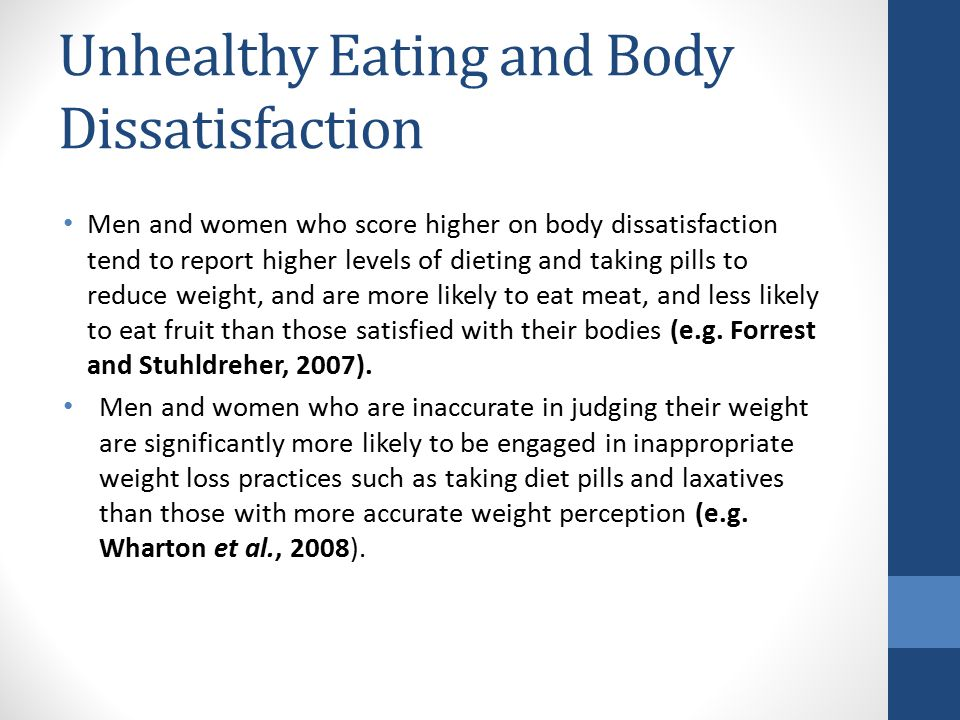 Unhealthy Eating and Body Dissatisfaction
