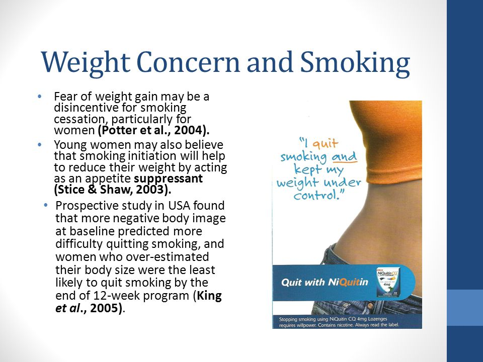 Weight Concern and Smoking