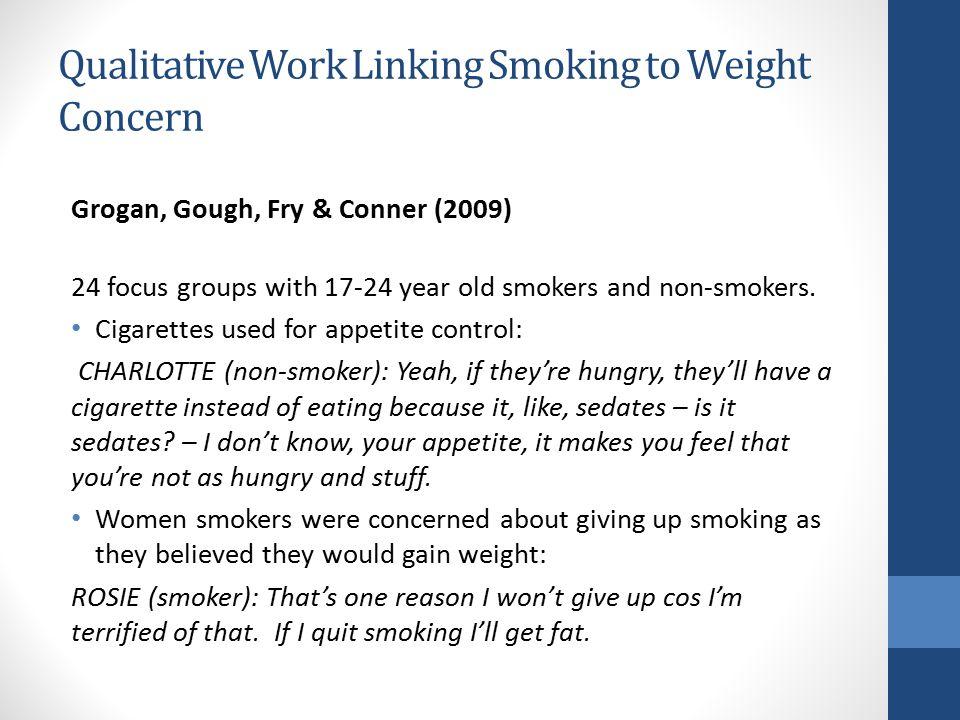 Qualitative Work Linking Smoking to Weight Concern