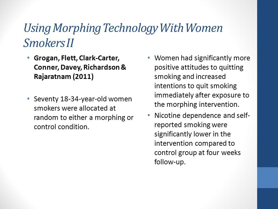 Using Morphing Technology With Women Smokers II