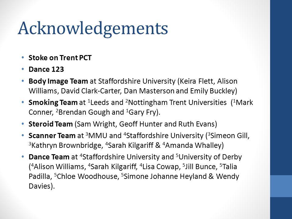 Acknowledgements Stoke on Trent PCT Dance 123