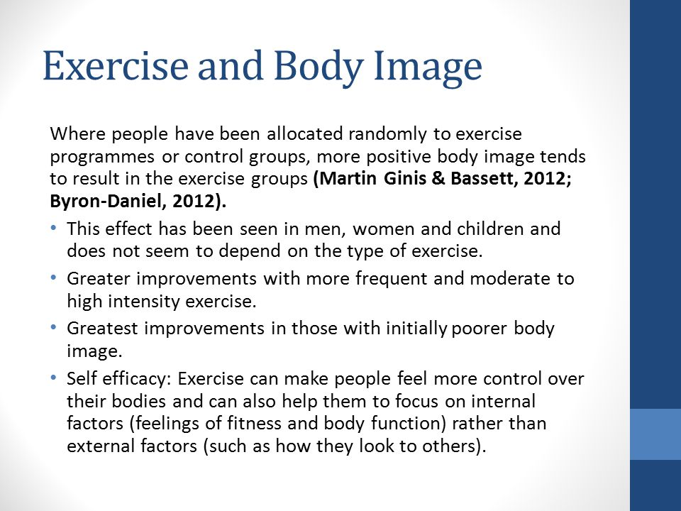 Exercise and Body Image