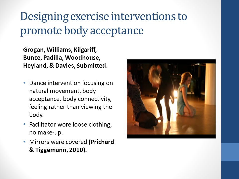 Designing exercise interventions to promote body acceptance