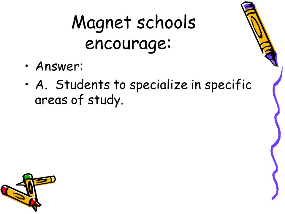 Magnet schools encourage: