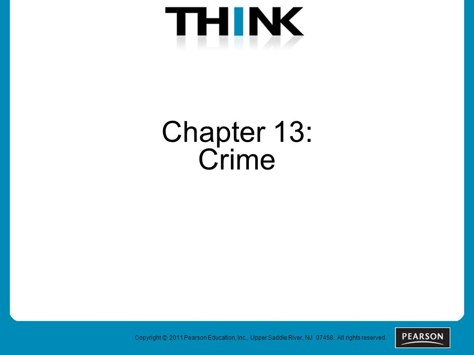 Chapter 13: Crime